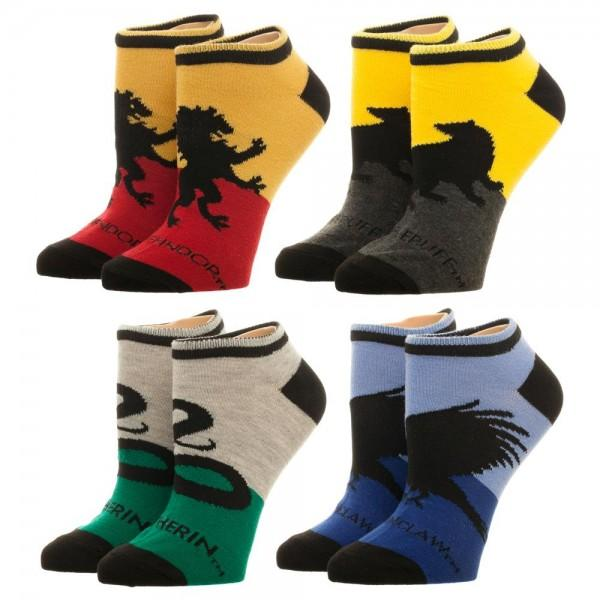 Harry Potter Hogwarts House Ankle 4 Pack Socks