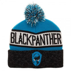Black Panther Embroidery Front Art Cuff Beanie