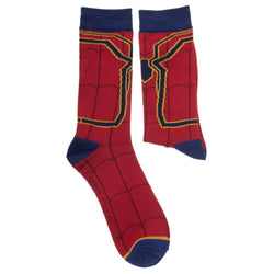 Spiderman Print Athletic Deep Red Crew Sock
