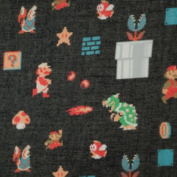 Nintendo Mario 8-Bit All Over Infinity Viscose Scarf
