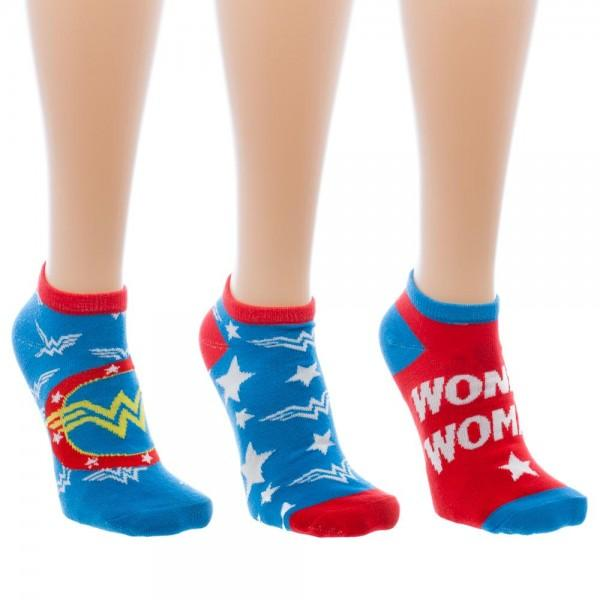 Wonder Woman Ankle Socks 3 Pack