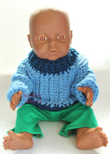 "Camel stitch sweater pattern for 15"" doll"