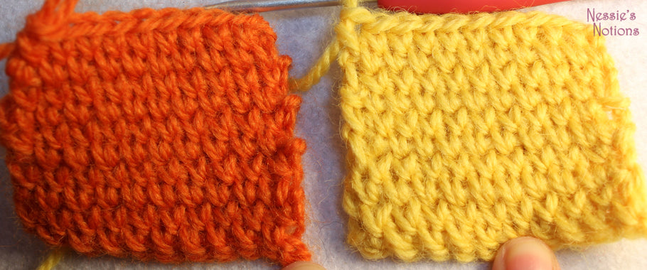 Waistcoat stitch in rounds and rows