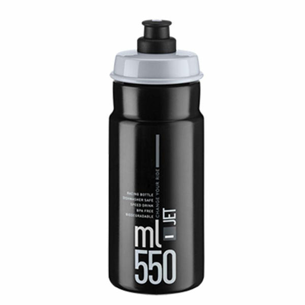 BIDON ELITE JET - NOIR  GRIS - 550ml Référence 2700 - - Montreal Internationnal Sports