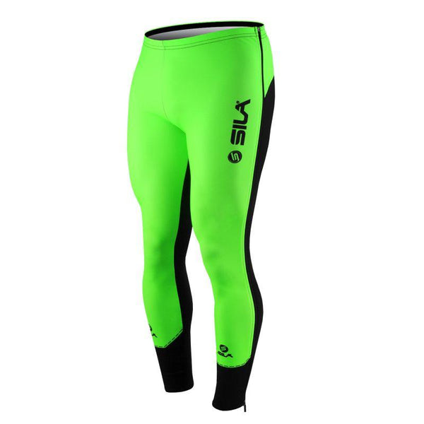 COLLANT D'ÉCHAUFFEMENT ZIP SILA FLUO STYLE 3 PLUS - VERT - Montreal Internationnal Sports