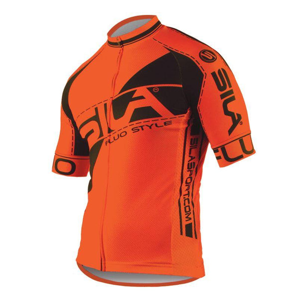 MAILLOT SILA FLUO STYLE 3 Plus – ORANGE – Manches courtes Référence 2756 - - Montreal Internationnal Sports