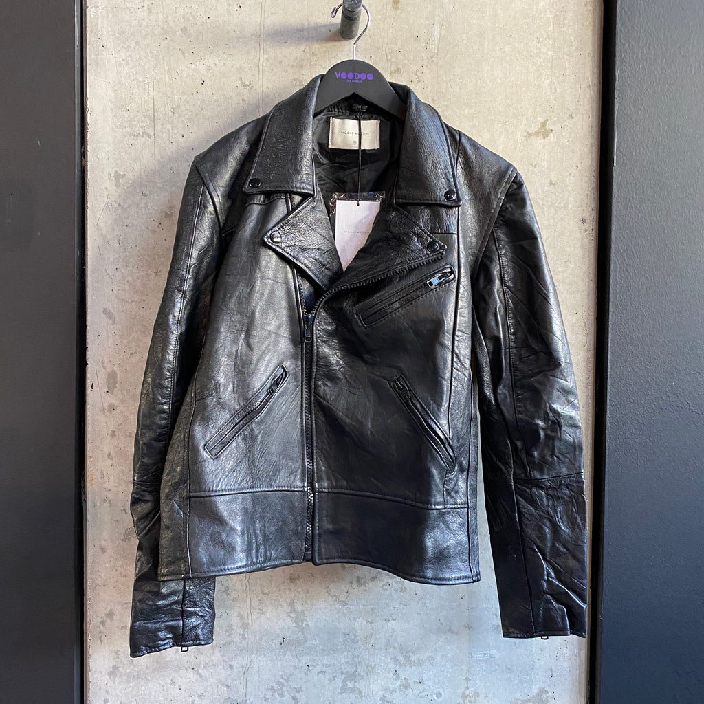 Recycled Leather Biker Jacket