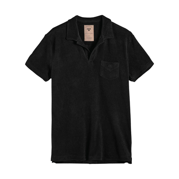 Black Terry Polo Shirt