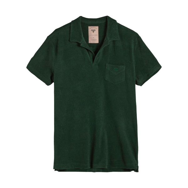 Green Terry Polo Shirt