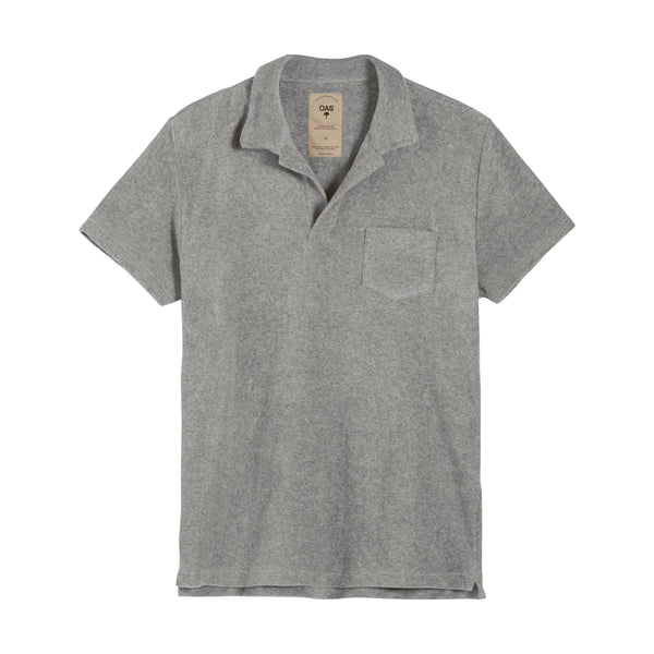 Grey Terry Polo Shirt