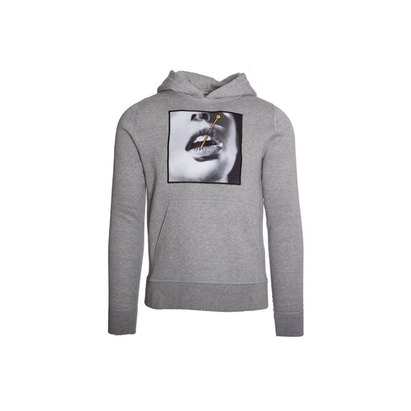 Lips with Gold Pin Hoodie