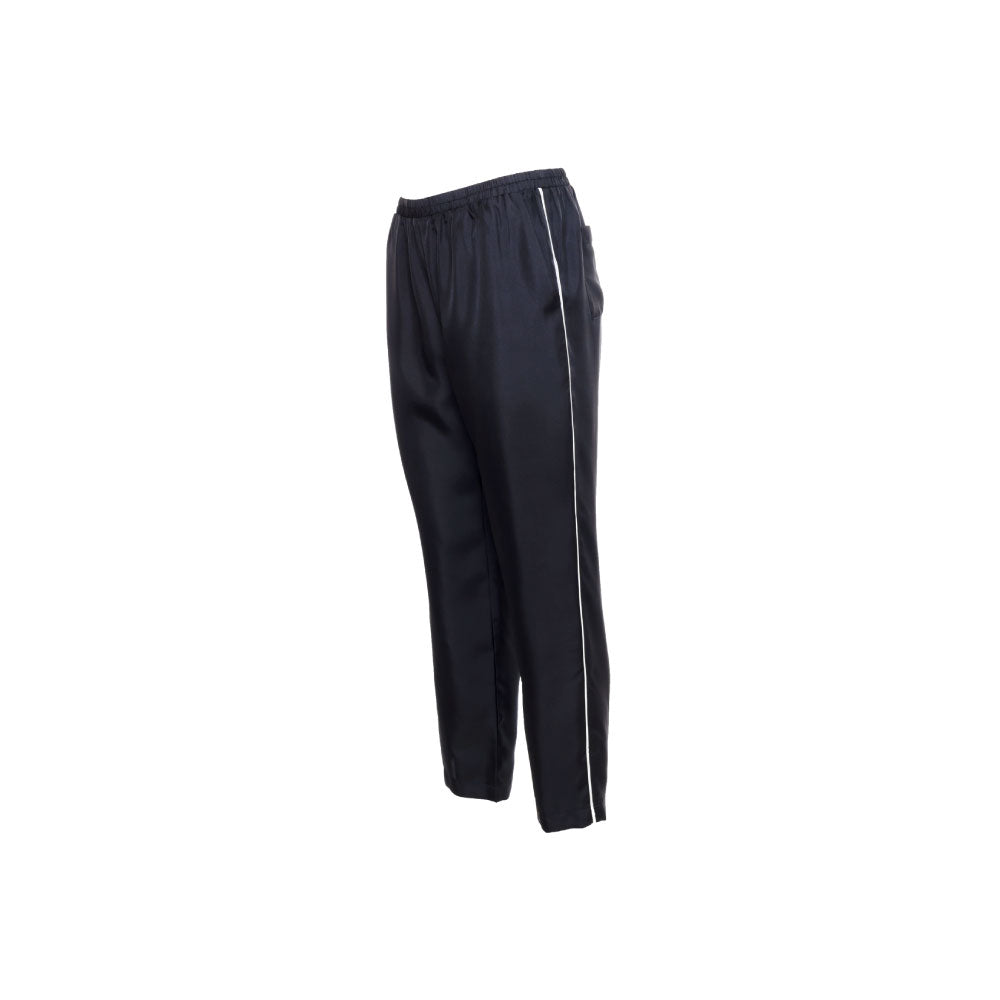 Silk Twill Piping Pants