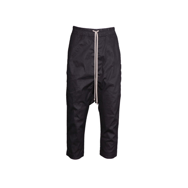 Waxed Drawstring Cropped Pants