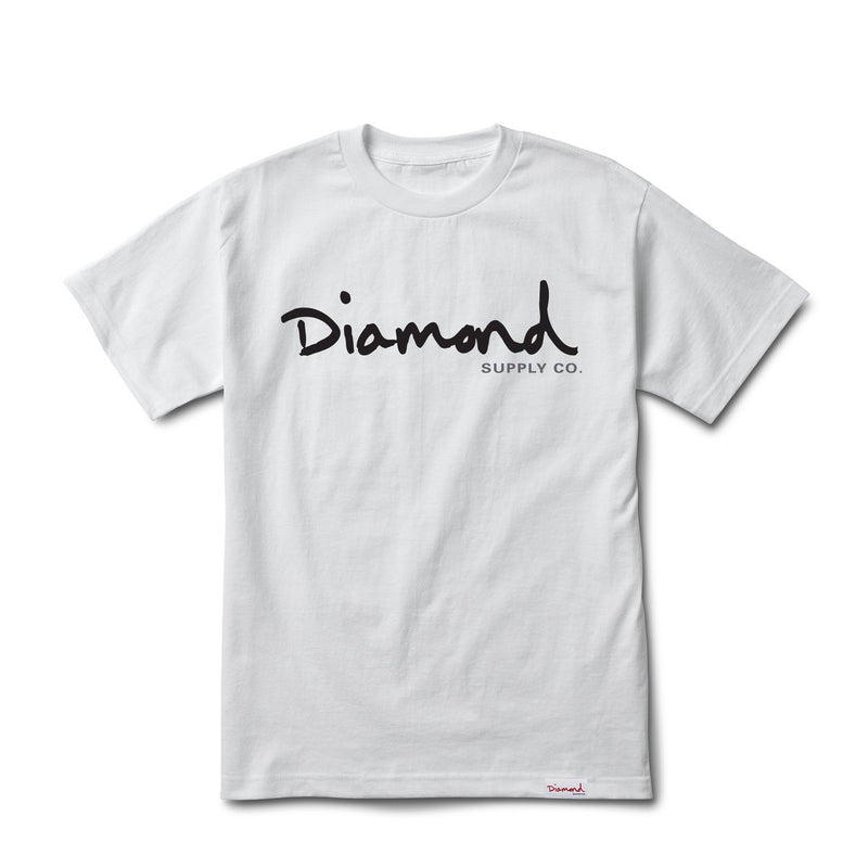 Diamond Supply Co OG Script Tee - White