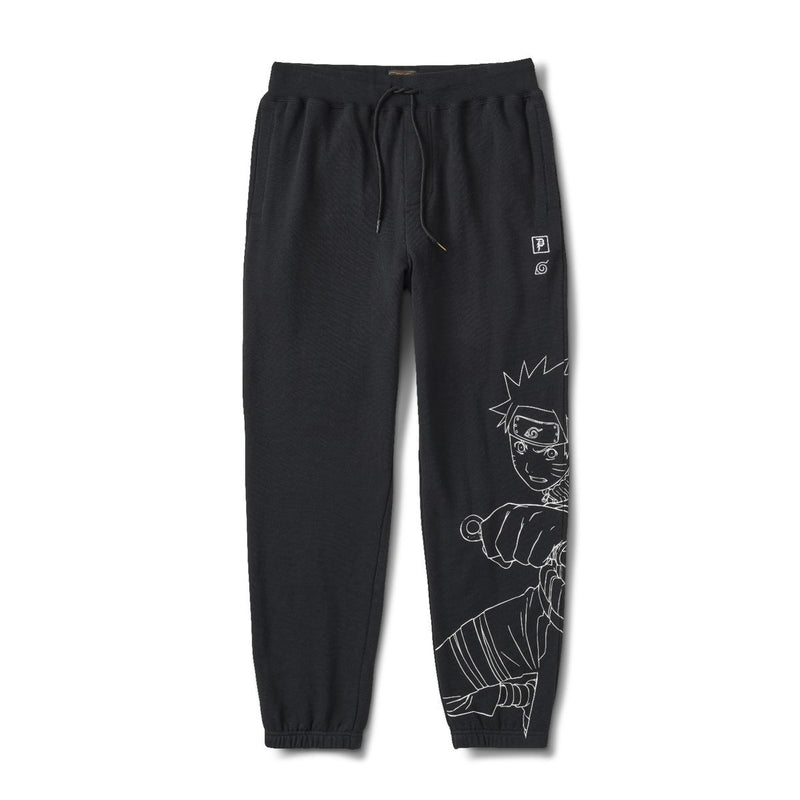 Primitive x Naruto Uzamaki Fleece Pants - Black