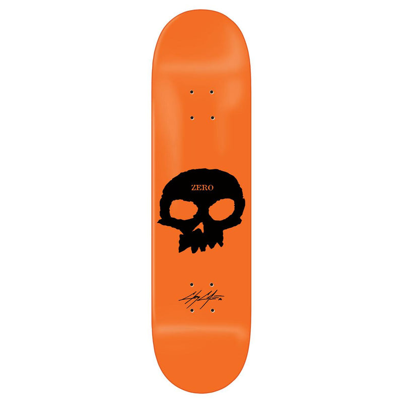 Orange Dipped Chris Cole Signature Skull Zero Skateboard Deck