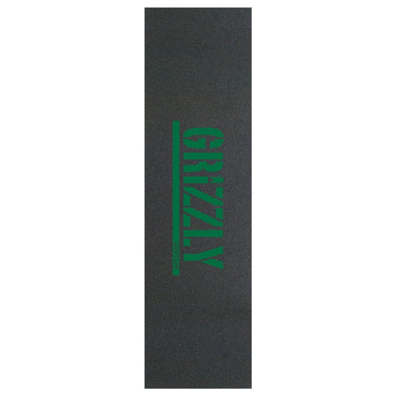 Grizzly Stamp Skateboard Griptape - Kelly Green