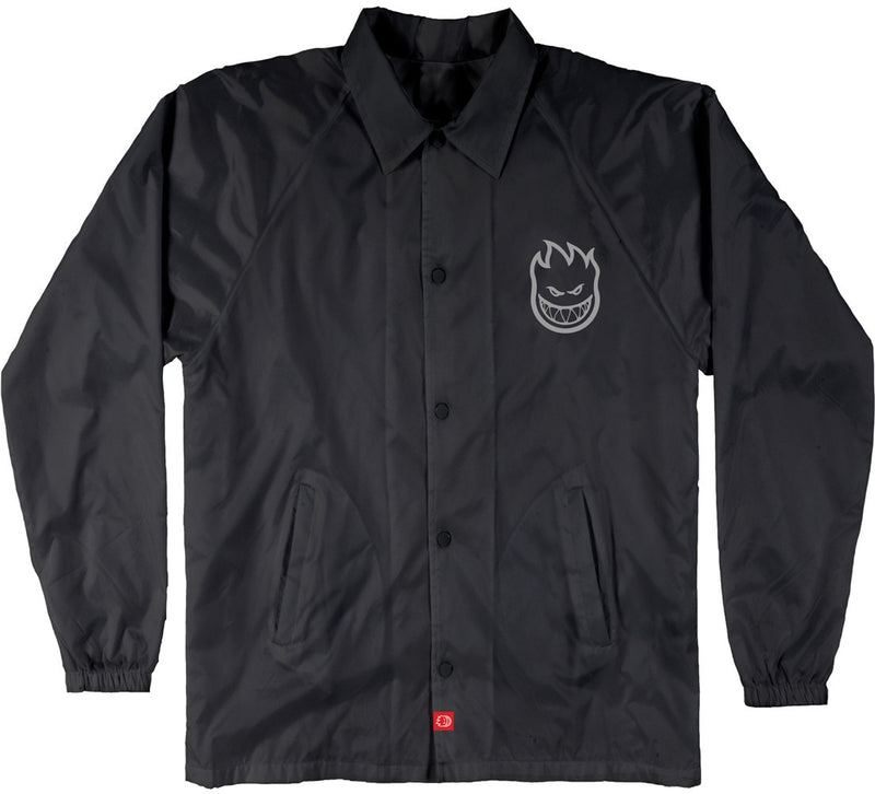 Spitfire Bighead Double Coaches Jacket - Black/Reflective