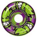 Spitfire Formula Four 99D Afterburners Green/Purple Swirl Conical Full Skateboard Wheels