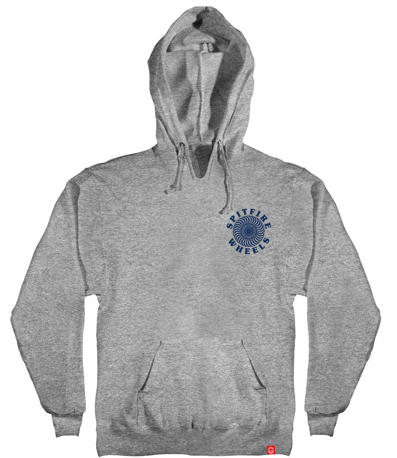 Spitfire OG Classic Swirl Pullover Hoodie - Heather Grey/Blue