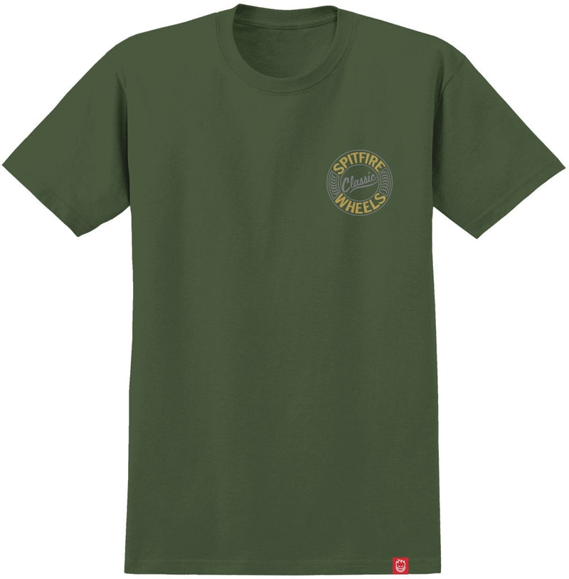 Spitfire Flying Classic Tee - Army Green/Gold