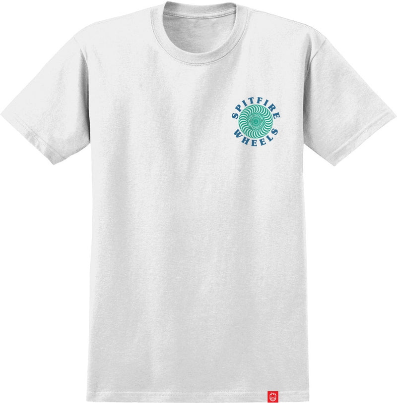 Spitfire OG Classic Tee - White/Turquoise