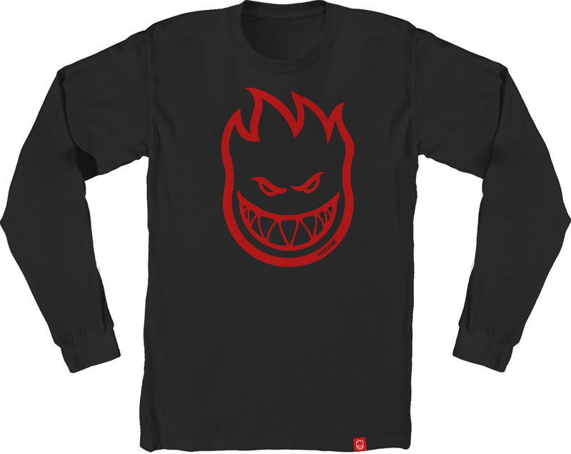 Spitfire Bighead Long Sleeve Tee - Black/Red
