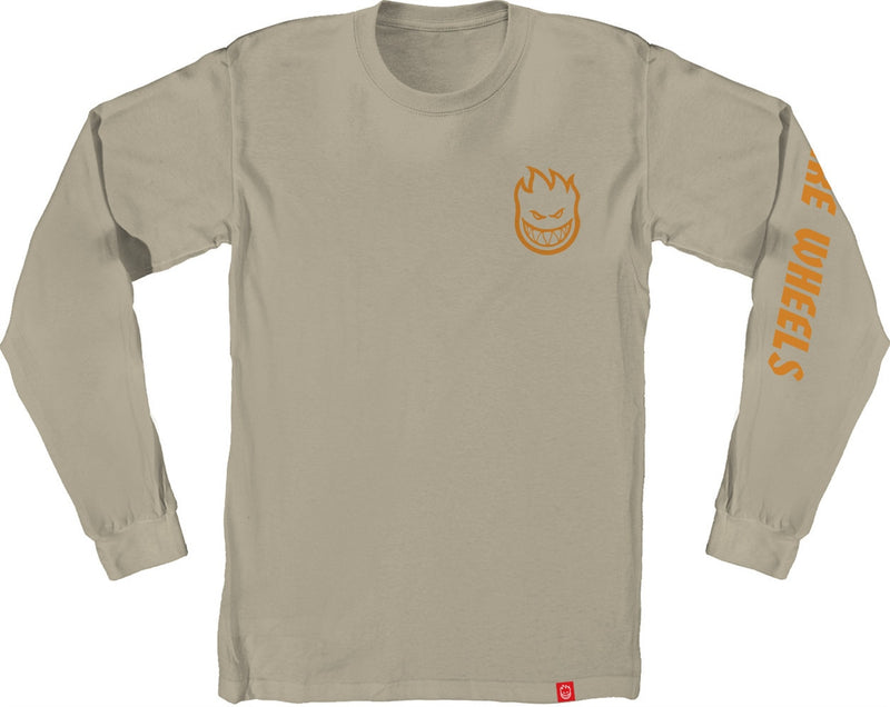 Spitfire Lil Bighead Long Sleeve Tee - Sand/Orange