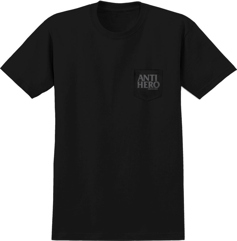 Antihero Skateboards Black Hero Pocket Tee - Black/Reflective