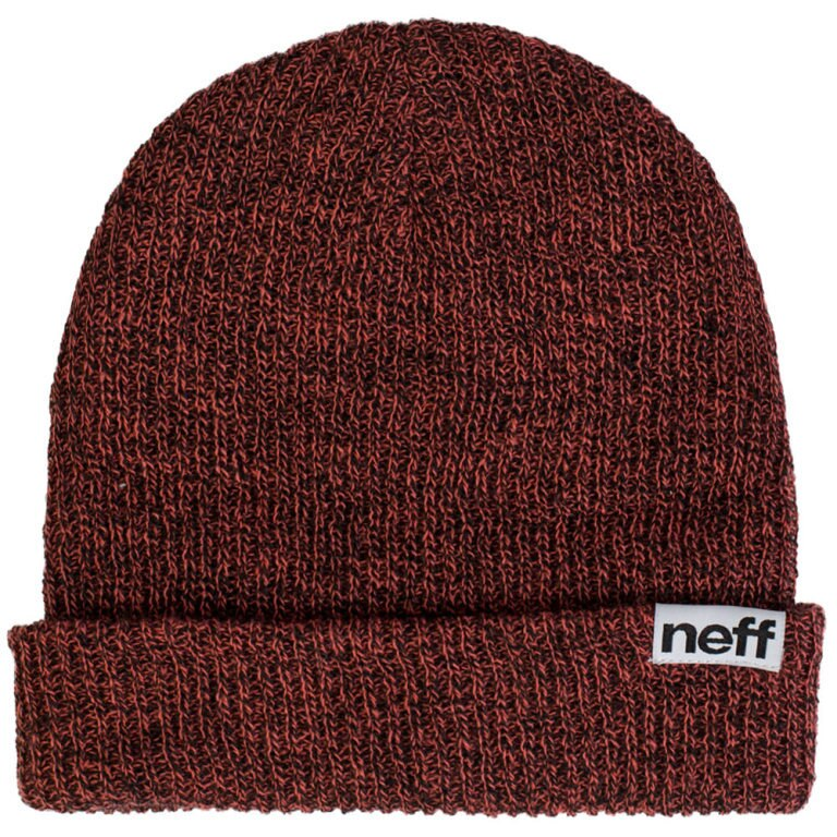 Neff Fold Heather Beanie - Coral/Black