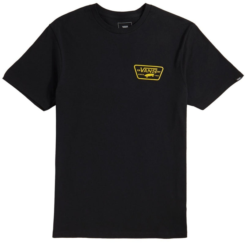 Vans Full Patch Back Tee - Black/Sulphur