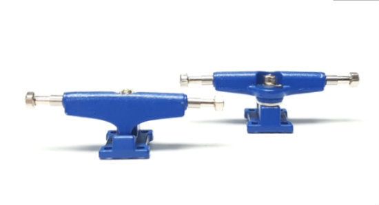 Exodus Spartan II Wide 32mm Fingerboard Trucks  - Blue