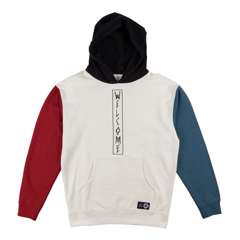 Welcome Quadrant Pullover Hoodie - Bone/Black