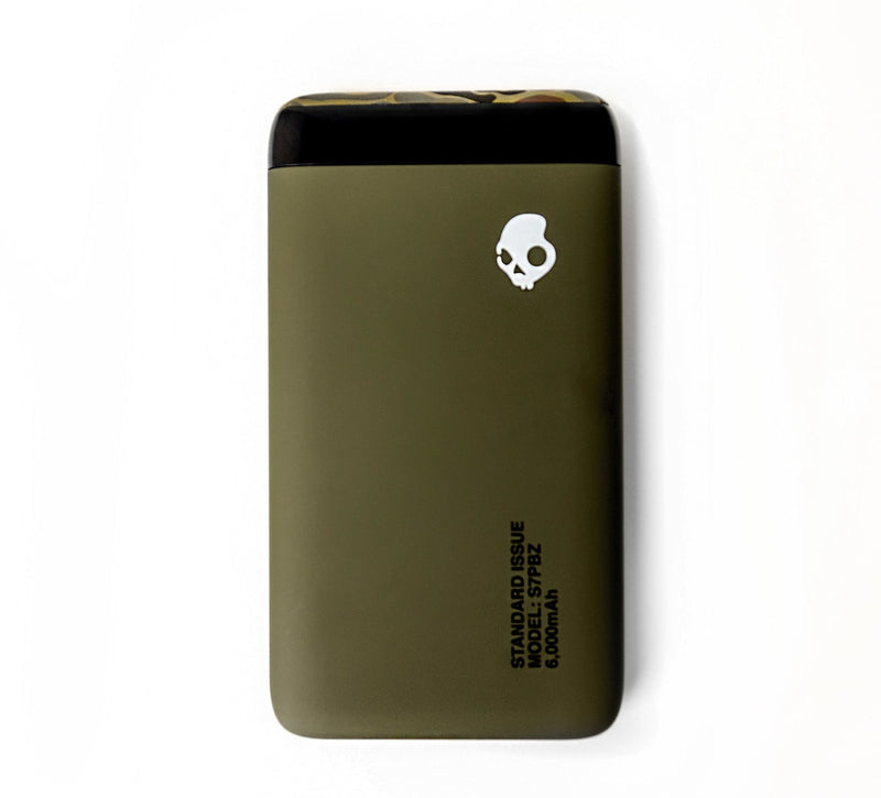 Skullcandy Stash Portable Power Bank - Olive/Camo