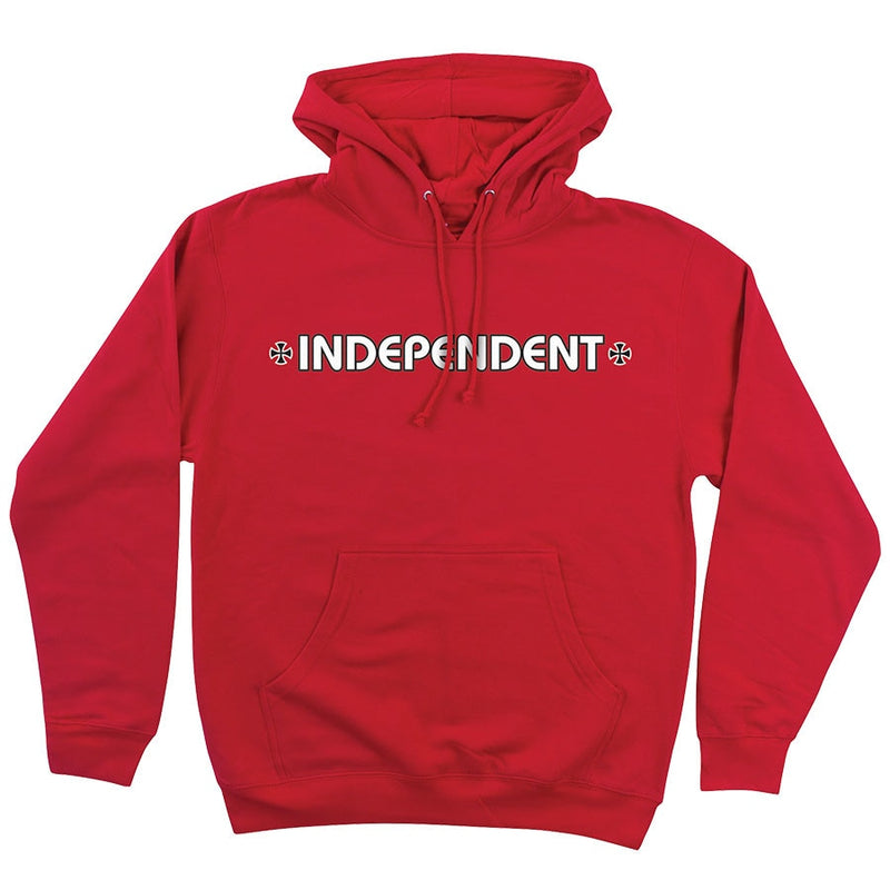 Independent Bar/Cross Regular Pullover hoodie - Red