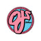 Pink OJ Wheels Skateboard Sticker