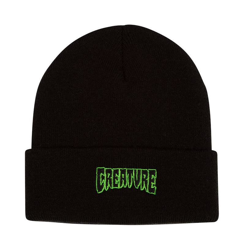 Black Outline Logo Creature Skateboards Beanie