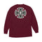 Burgundy Bar Cross Independent trucks long sleeve T-shirt Back