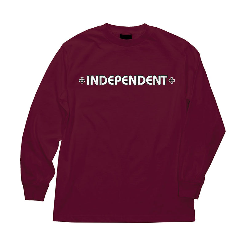 Burgundy Bar Cross Independent trucks long sleeve T-shirt