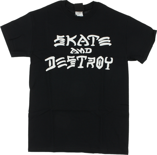 Thrasher Skate and Destroy Tee - Black