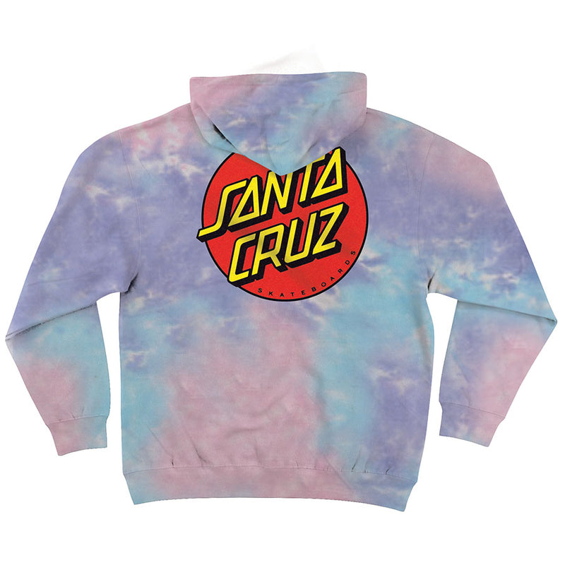 Cotton Candy Classic Dot Midweight Santa Cruz Hoodie Back