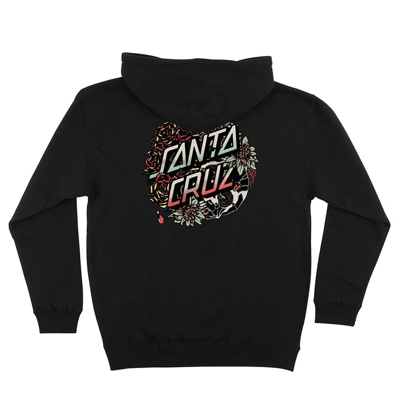 Black Tomb Dot Santa Cruz Hoodie Back