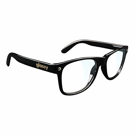 Glassy Leonard Gamer Sunglasses - Black/Clear