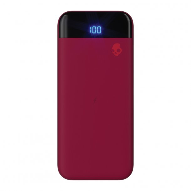 Deep Red Stash Fuel Portable Skullcandy Charging Block