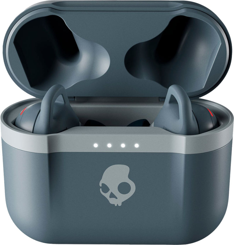 Chill Grey Indy Evo True Wireless Skullcandy Ear Buds Charging case