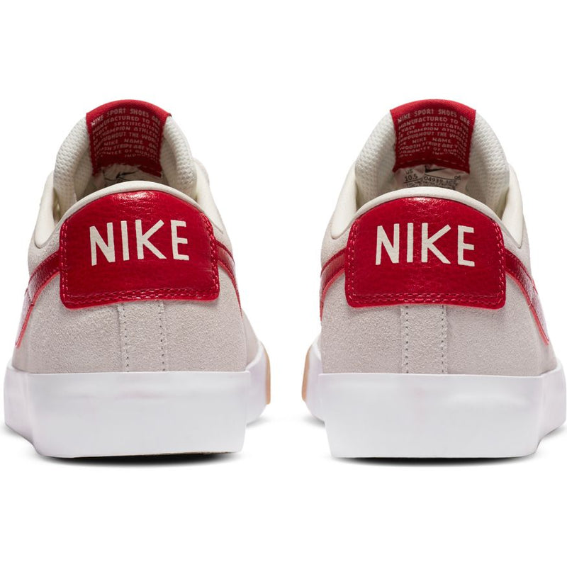 Sail/Cardinal Red GT Blazer Low Nike SB Skateboarding Shoe Back