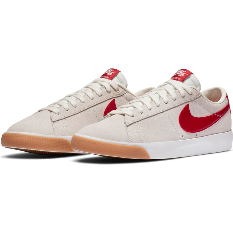 Sail/Cardinal Red GT Blazer Low Nike SB Skateboarding Shoe Front