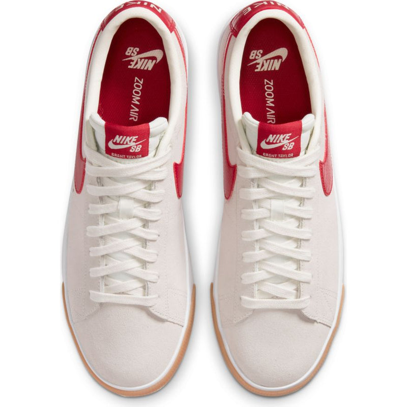 Sail/Cardinal Red GT Blazer Low Nike SB Skateboarding Shoe Top