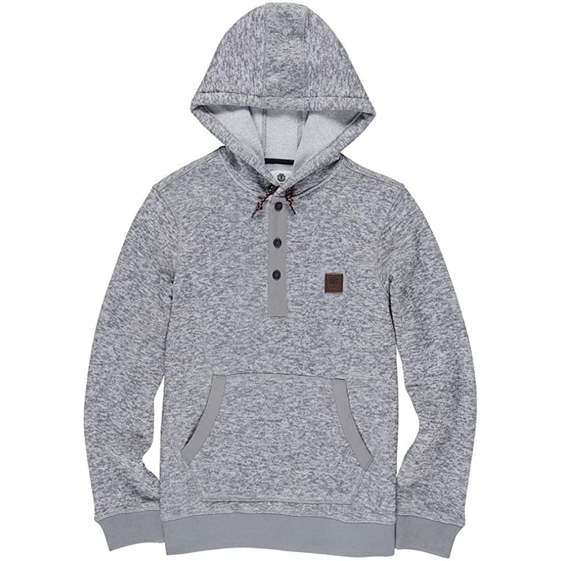 Heather Grey Highland Henley Element Skateboards Hoodie