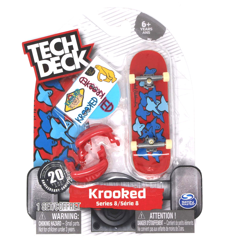 Red/Blue Birds Slick II Krooked Tech Deck